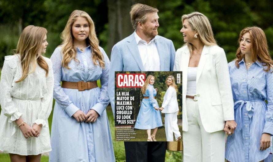 """La tapa de revista Cara que generó total repudio: «La hija mayor de Máxima de Holanda luce con orgullo su look 'Plus Size' """""""