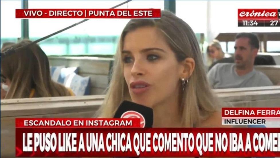 Tras el escándalo generado en Instagram, habló Delfi Ferrari