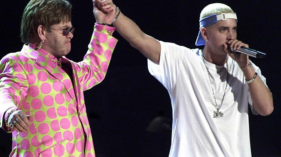 El día en el que Eminem estuvo a punto de morir y Elton John le salvó la vida