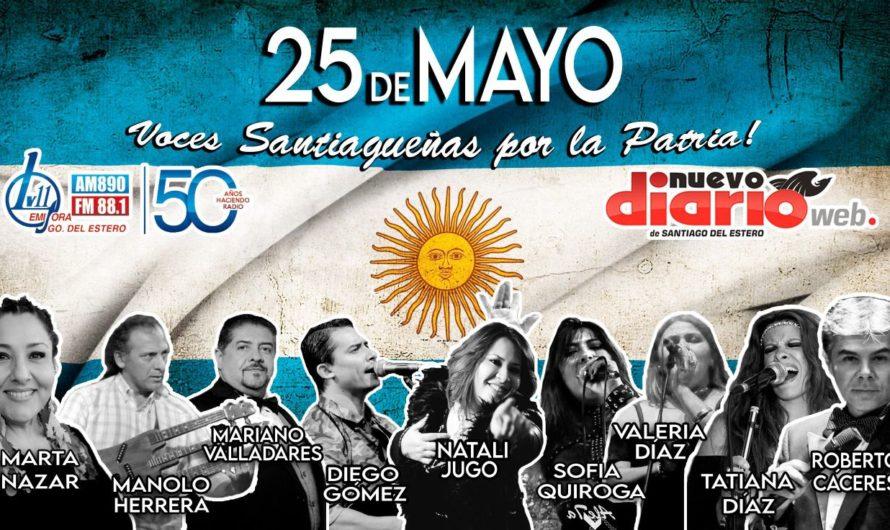 ¡Imperdible! Artistas santiagueños entonaron las estrofas del Himno Nacional Argentino