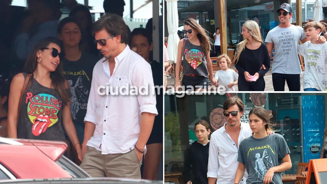 Pampita y su esposo, Roberto García Moritán, tuvieron un almuerzo con sus hijos en Punta del Este