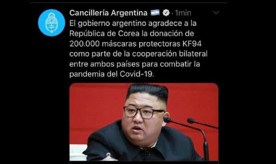 La Cancillería cometió un error insólito: confundió las dos Coreas y culpó a Twitter
