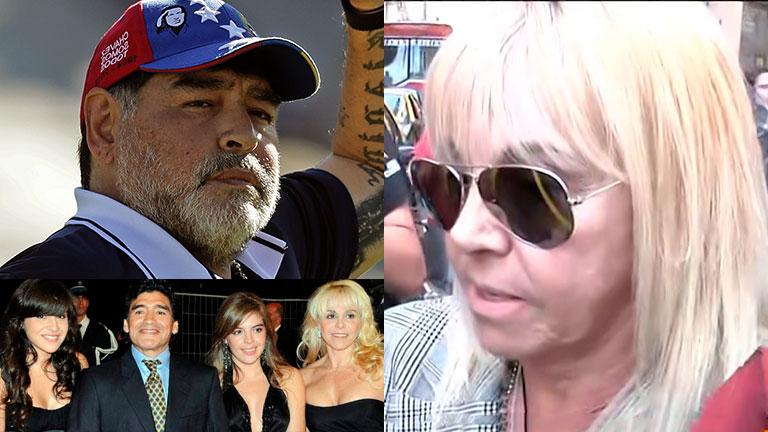 Claudia Villafañe indignada por las declaraciones de Maradona: «Voy a defender a mis hijas»