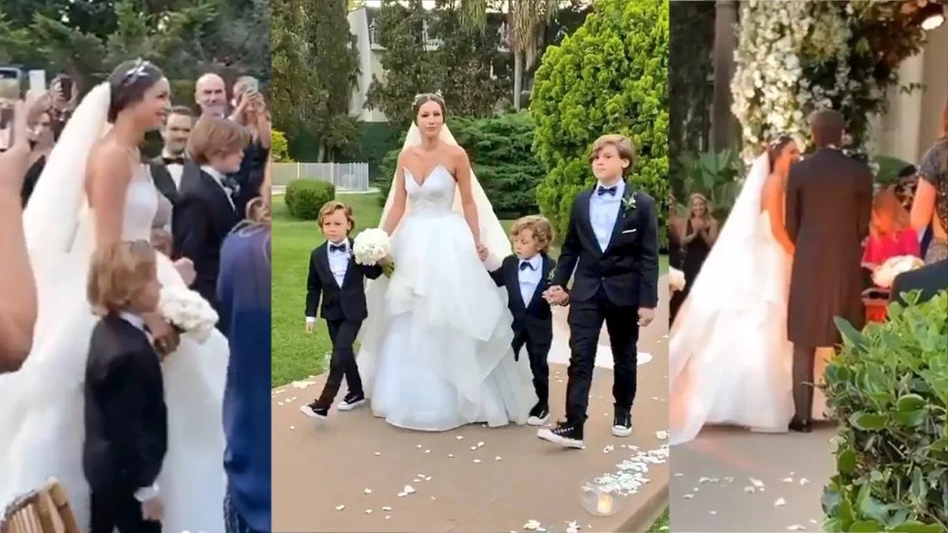 """Dio el """"sí"""": así fue el casamiento de Pampita y Moritán [FOTOS y VIDEO]"""