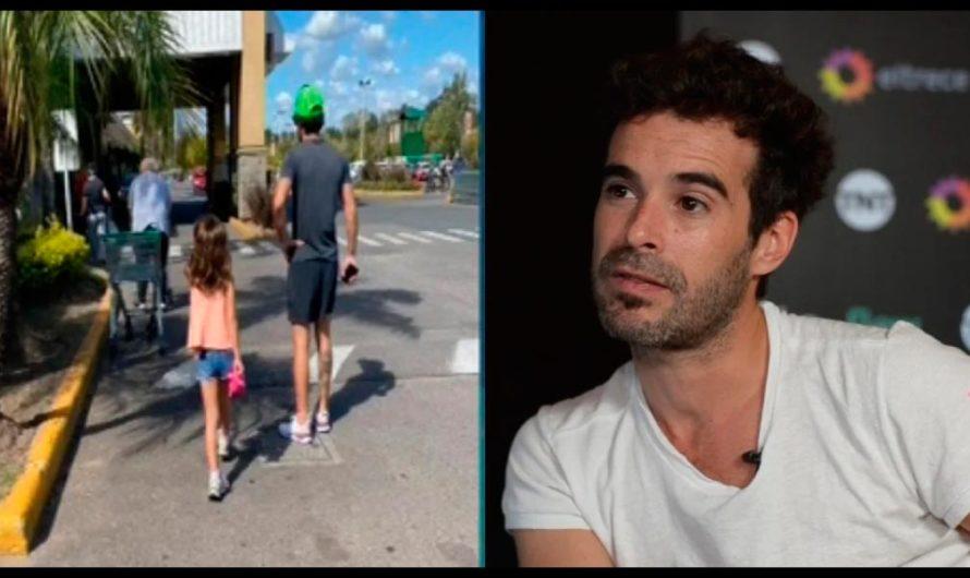 Echaron a Nico Cabré de un supermercado por estar con su hija