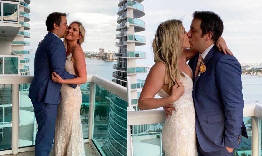 Se casaron en el balcón con los vecinos como testigos