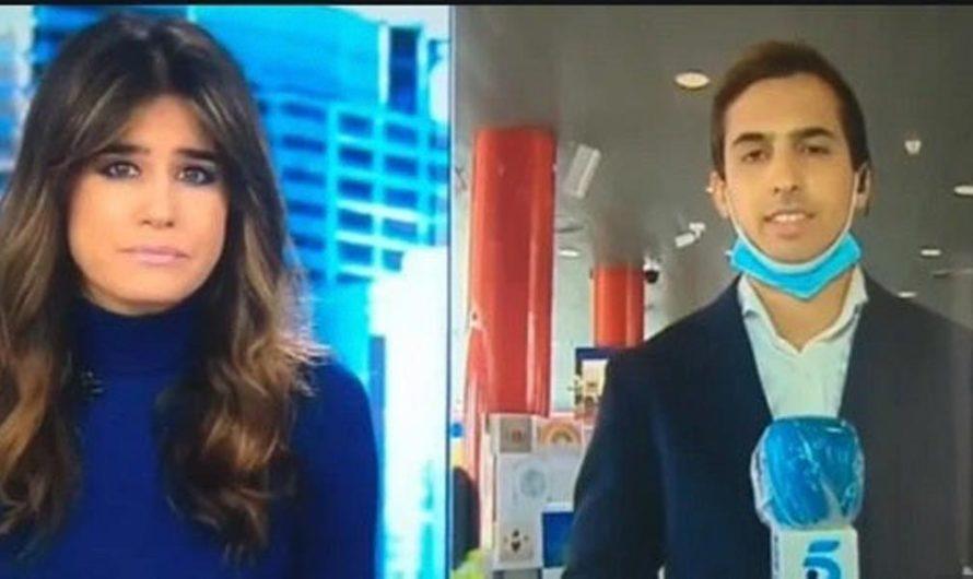 Periodista hablaba del covid-19 y se enteró en vivo que tenía fiebre