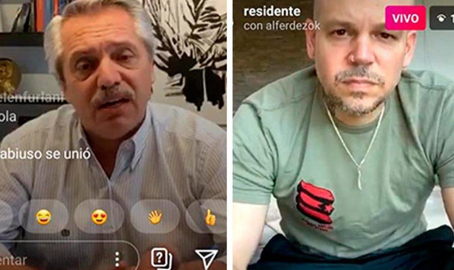 Propuesta en vivo de Instagram de Alberto Fernández a Residente