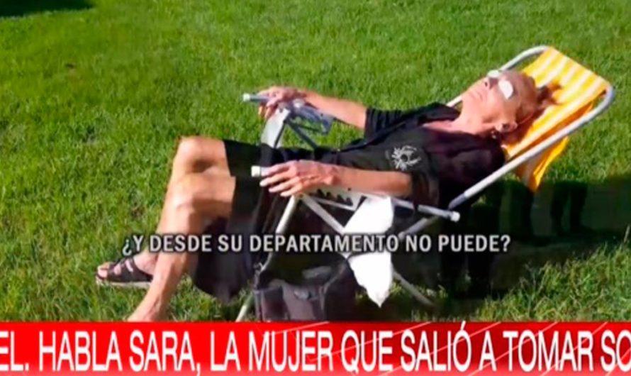 Habló Sara, la mujer que rompió la cuarentena para ir a tomar sol: «La policía apesta, no quiero que se me acerque más esa gentuza toda contaminada»