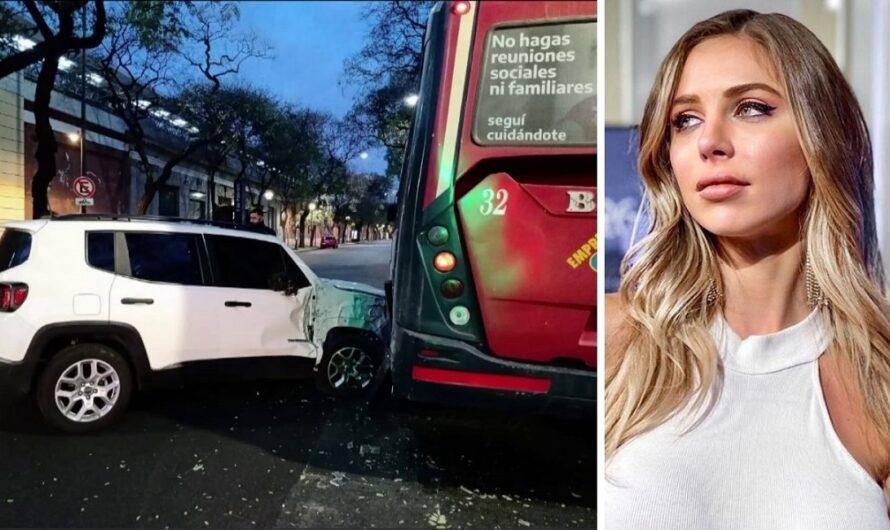 Romina Malaspina tuvo un accidente: chocó su camioneta contra un colectivo [FOTOS]