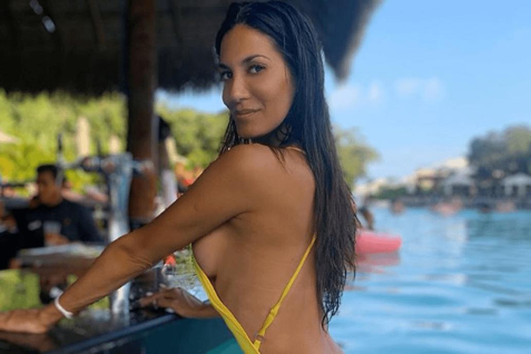La arrastró el agua: el terrible susto que se llevó Silvina Escudero al sacarse fotos en bikini [VIDEO]