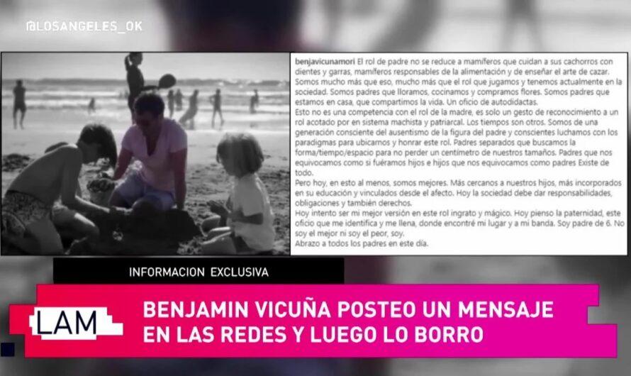 """La China Suárez borró el saludo a Benjamin Vicuña por el Día del Padre: """"A ella le molestó"""""""