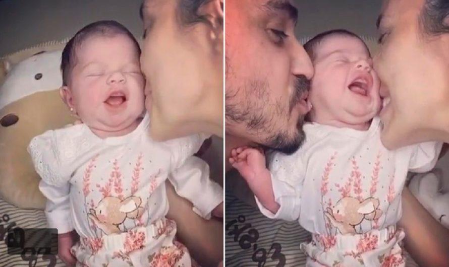 ¡Qué felicidad! Virginia Gallardo presentó a su hija con un tierno video junto a su marido